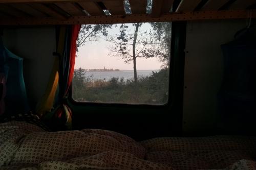 Ausblick vom Bett