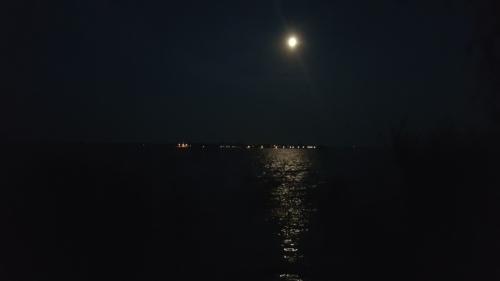 Stettiner Haff bei Nacht