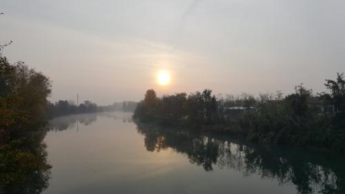 Sonnenaufgang am Mincio